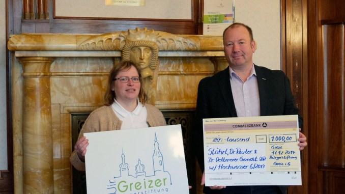 Spendenmittel Fluthilfe Greiz 2013