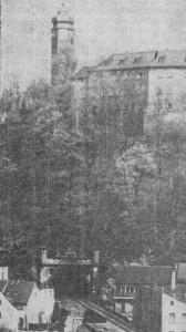 Blick zum Schloßbergtunnel