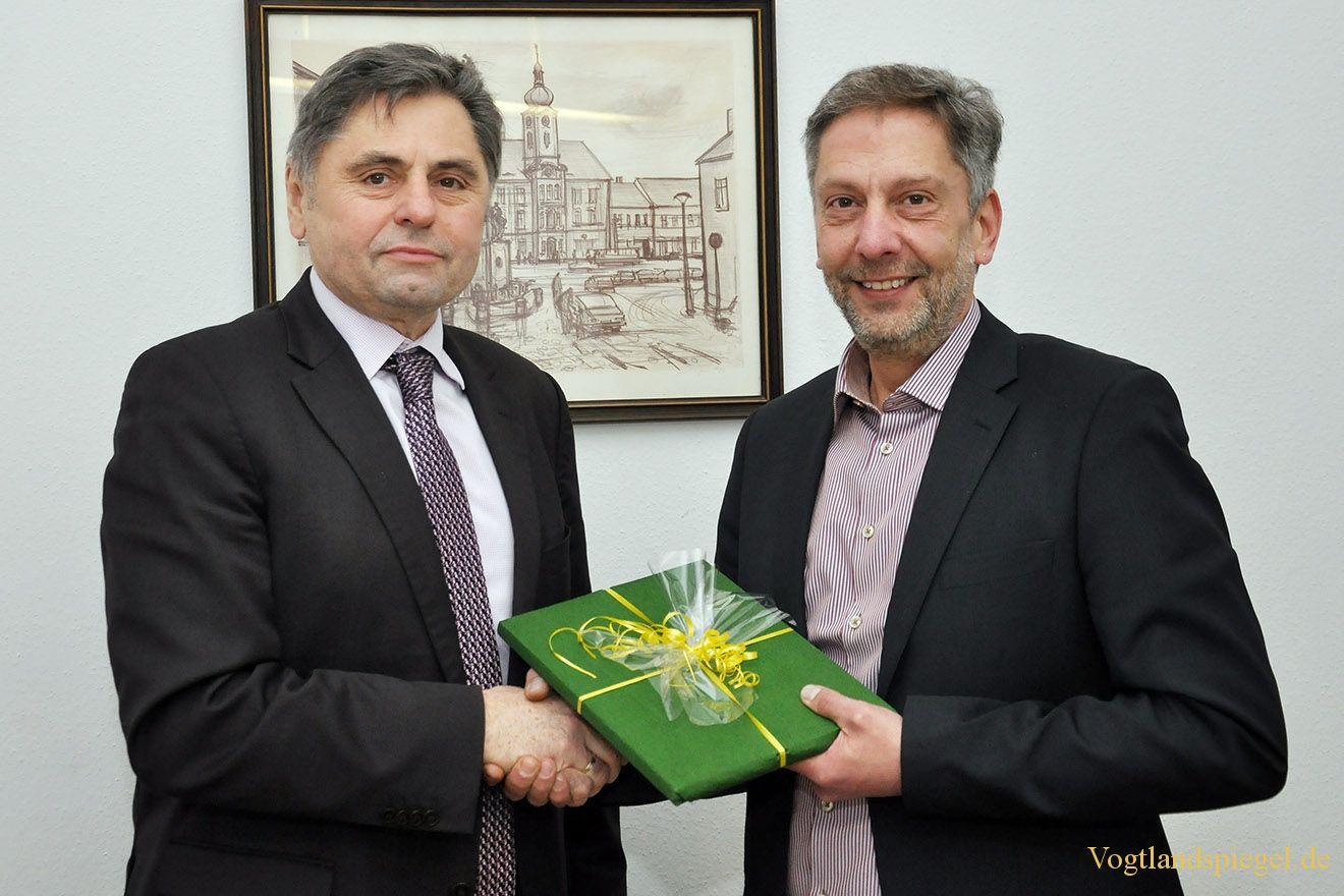 Hauptamtsleiter Matthias Bergmann aus Greizer Rathaus verabschiedet