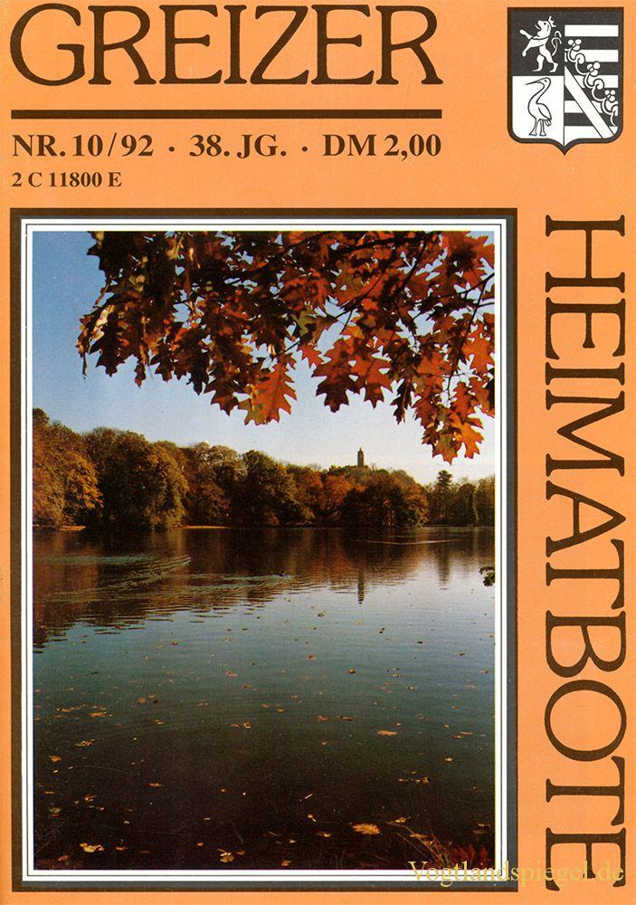 Greizer Heimatbote Oktober 1992