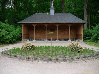 Rosenrundbeet im Fürstlich Greizer Park zu beschauen