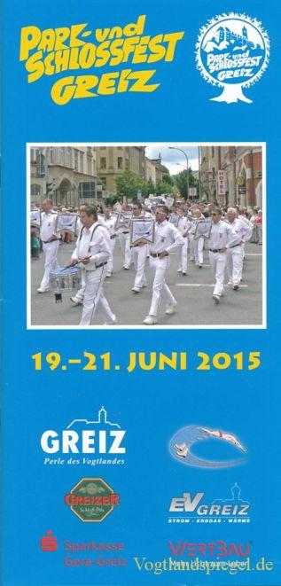 Programm Park und Schlossfest 2015