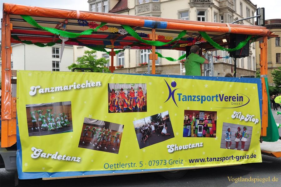 Festumzug zum Park- und Schlossfest 2015 in Greiz