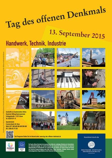 Plakat zum Denkmaltag 2015.