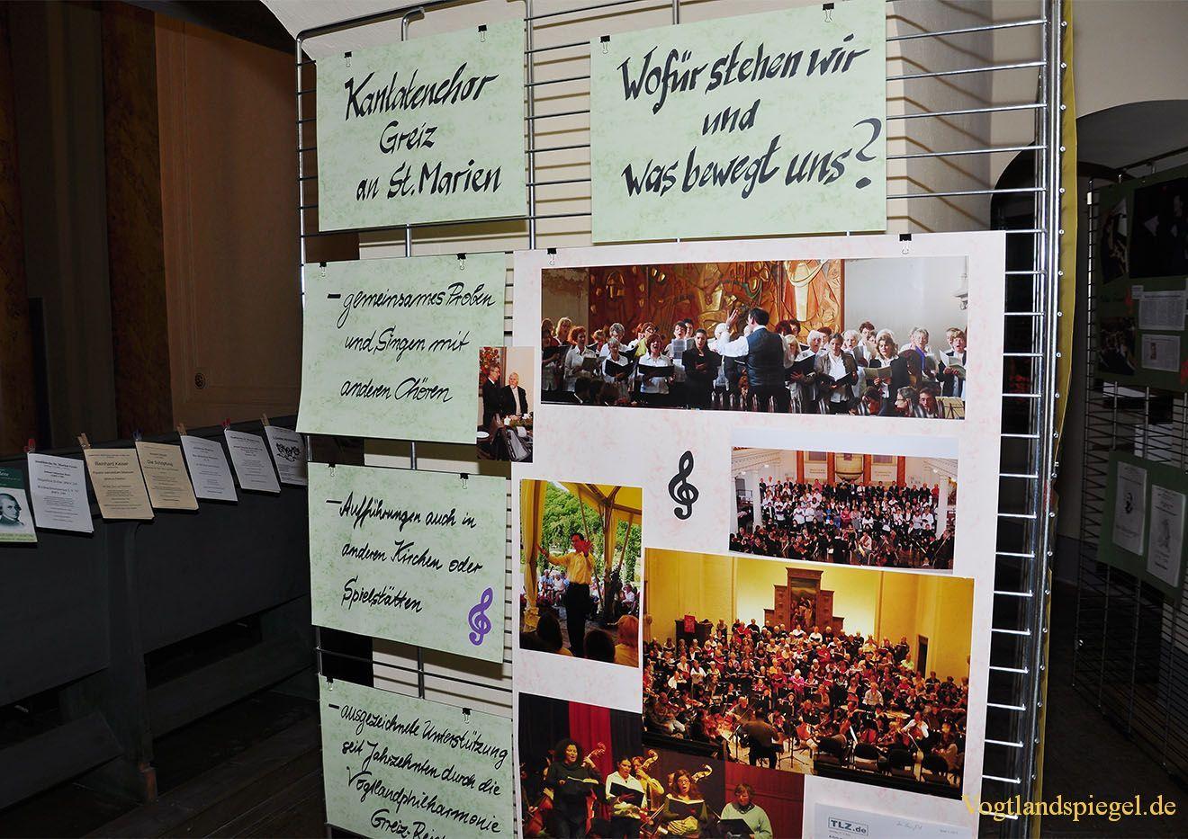 Ausstellung 50 Jahre Kantatenchor Greiz