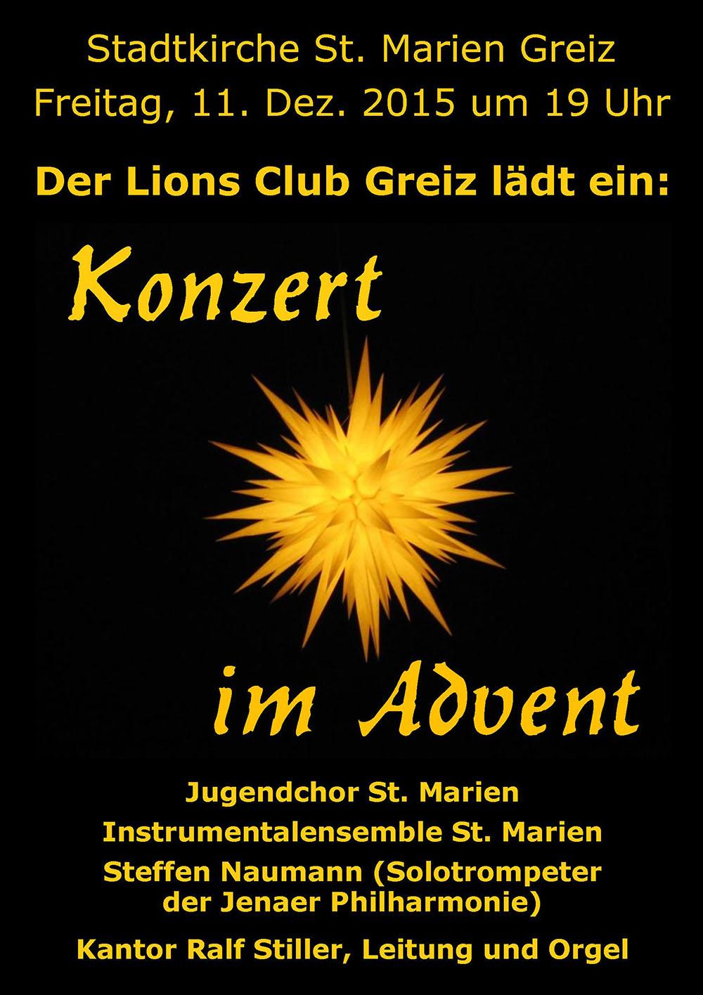 Plakat zu dem Konzert