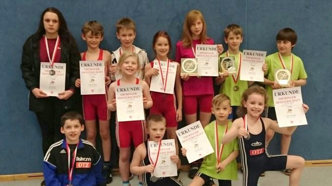 Greizer Nachwuchsringer dominieren Thüringer Meisterschaften
