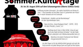 Kultur für Jung und Alt im Schanzengarten Greiz