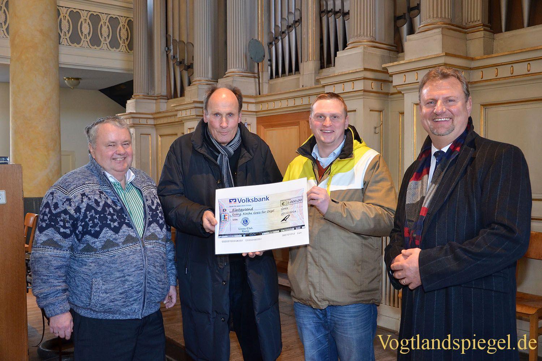 Lions Club Greiz: 1000 Euro für Kreutzbach-Jehmlich-Orgel