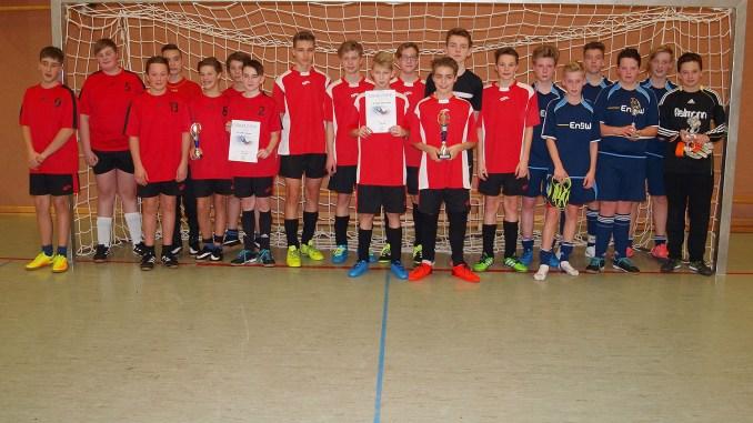 C-Junioren des Ulf-Merbold-Gymnasiums auf Hallenparkett erfolgreich