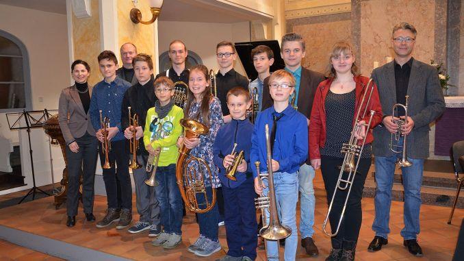Musikschule Greiz: ...etwas blechern ging es in der Stadtkirche zu