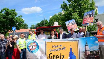 Greizer setzten ein Zeichen für den Erhalt der Kreisstadt Greiz