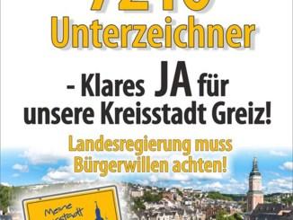 Meine Kreisstadt Greiz: Greizer legen machtvolles Veto ein