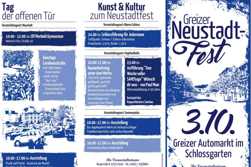 Flyer Greizer Neustadtfest