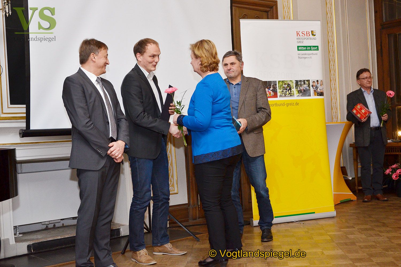 Kreissportbund Greiz ehrt Ehrenamtliche