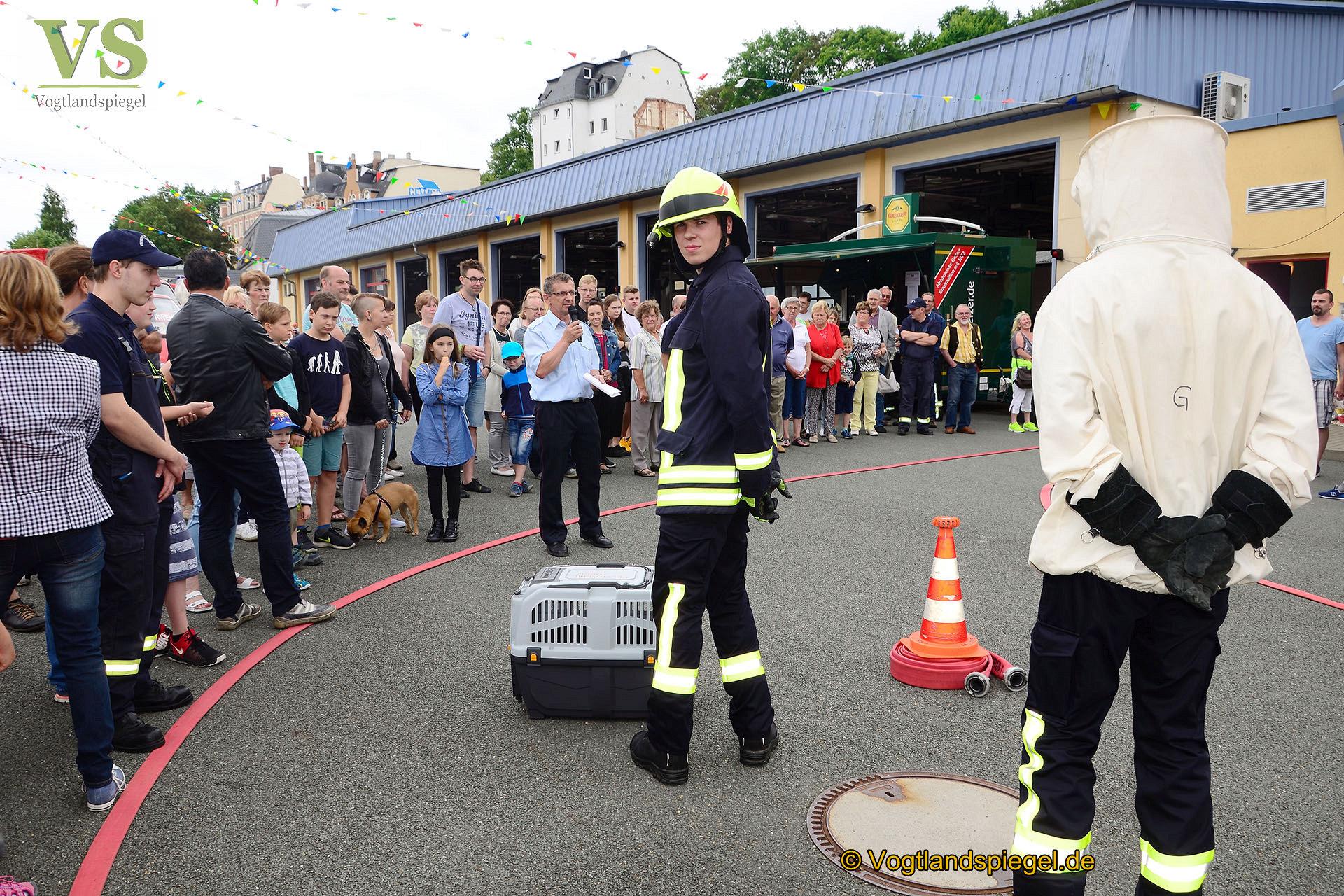Feuerwehrfest: Greizer Kameraden auf dem Catwalk