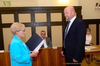 Alexander Schulze als Bürgermeister der Stadt Greiz vereidigt