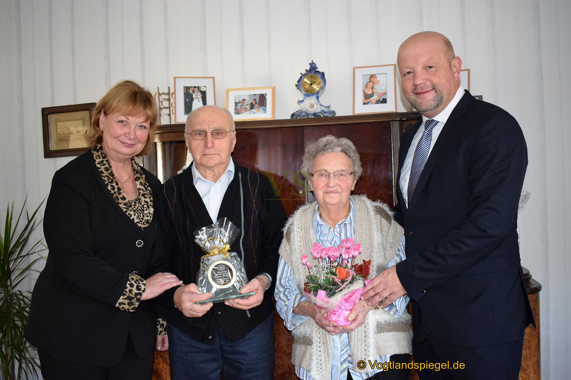 Eiserne Hochzeit: vor 65 Jahren gaben sich Franz und Käthe Klöpsch das Ja-Wort