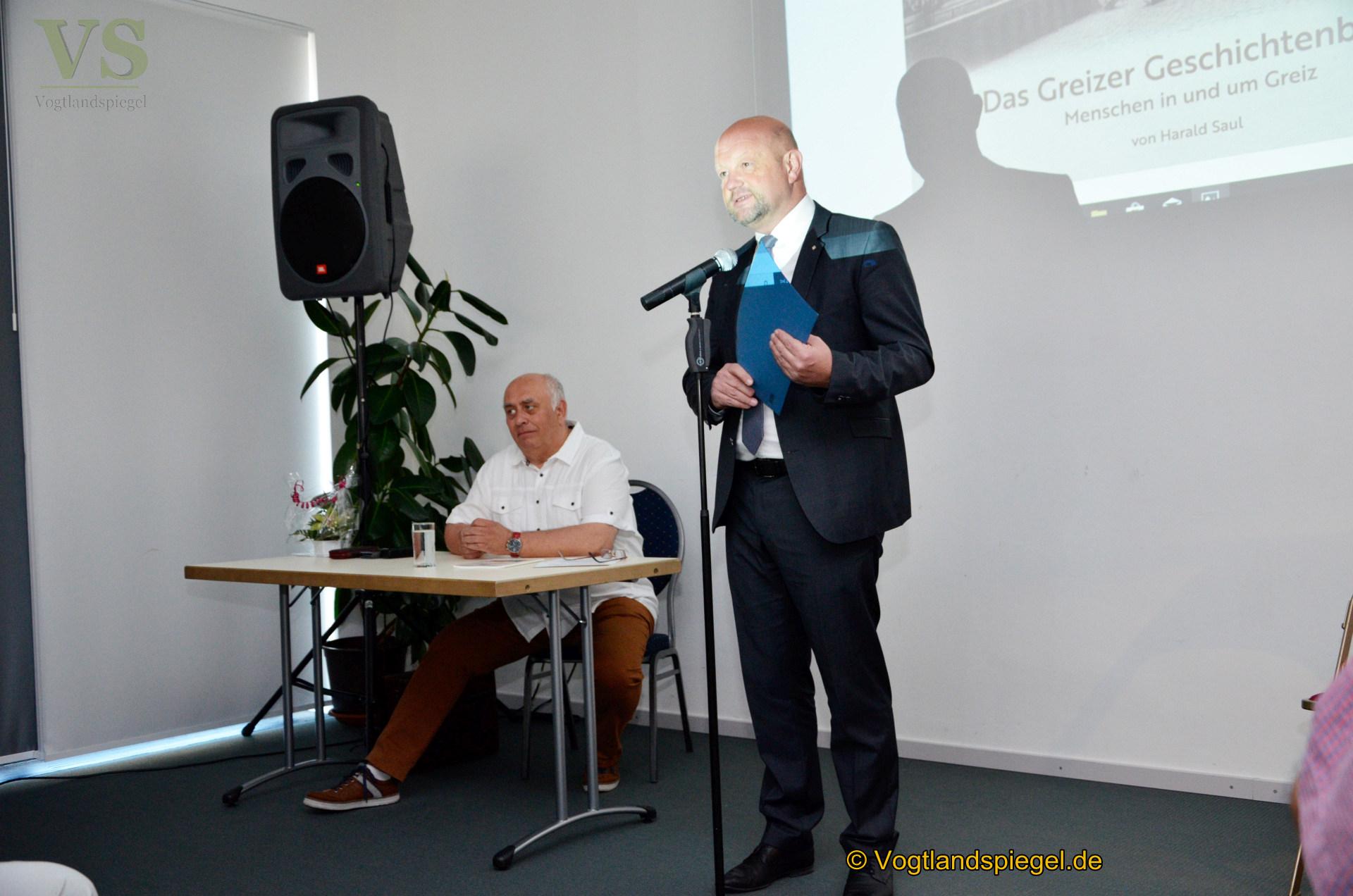 """Harald Saul präsentiert das """"Greizer Geschichtenbuch"""""""