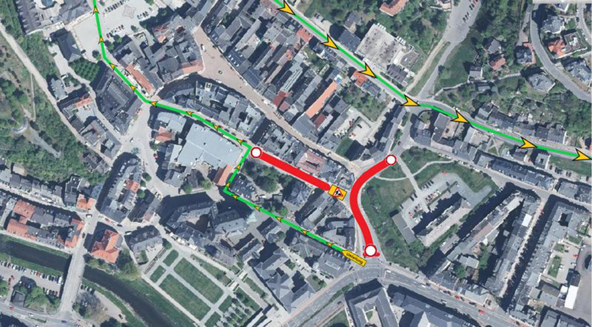 Aufgrund Straßenerneuerung ist die Thomasstraße, sowie die Marstallstraße vom 10.10.2019 bis 13.10.2019 gesperrt.