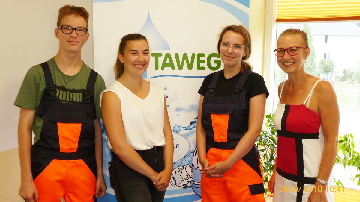 Neue Lehrlinge beim Zweckverband TAWEG