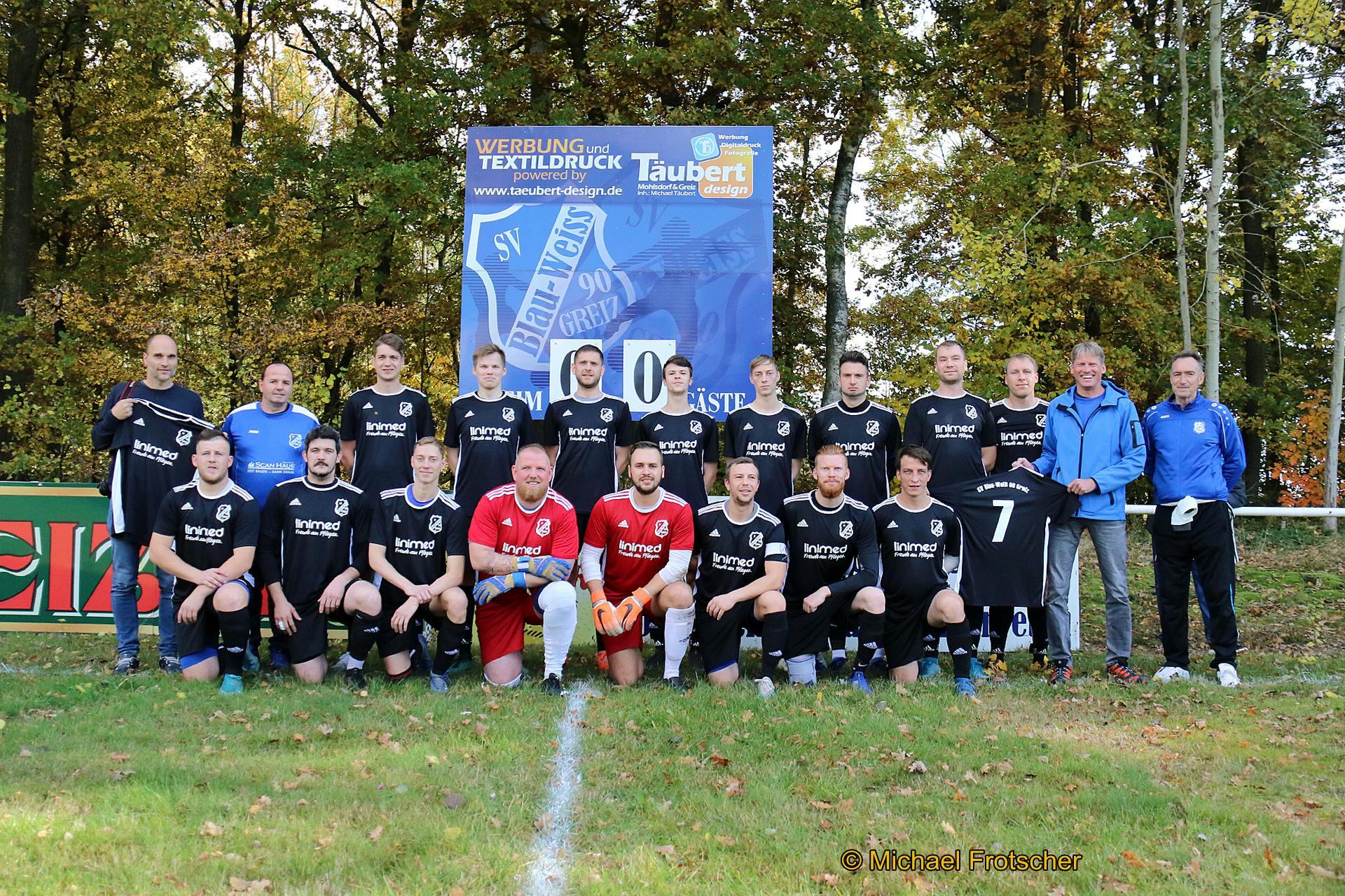 SV Blau-Weiß 90 Greiz: Neue Spielkleidung für die Fußballer
