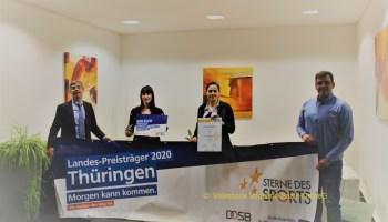 Förderpreis für den SV Blau Weiß Auma e.V. auf Landesebene in Thüringen
