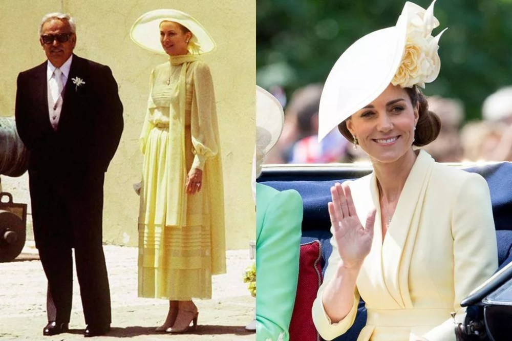 Grace Kelly (circa 1970) and Kate Middleton (2019)