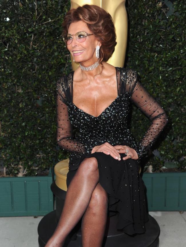 Софи Лорен на церемонии Оскар