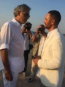 Andrea Bocelli e Raul Bova