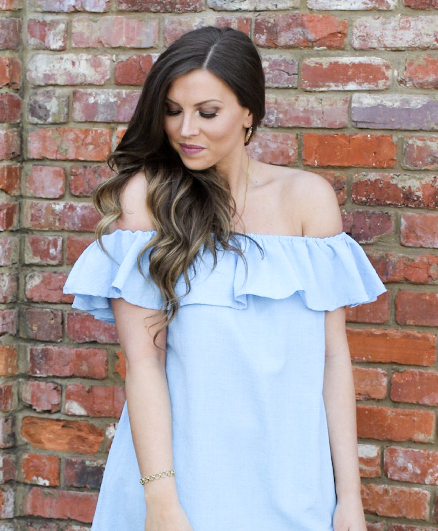 464a65e95b8bd Blue Flounce Dress