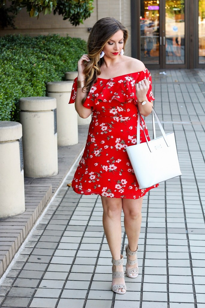 red-floral-dress