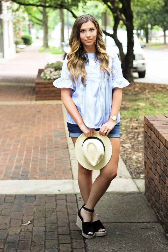 blue-and-white-striped-with-ruffles