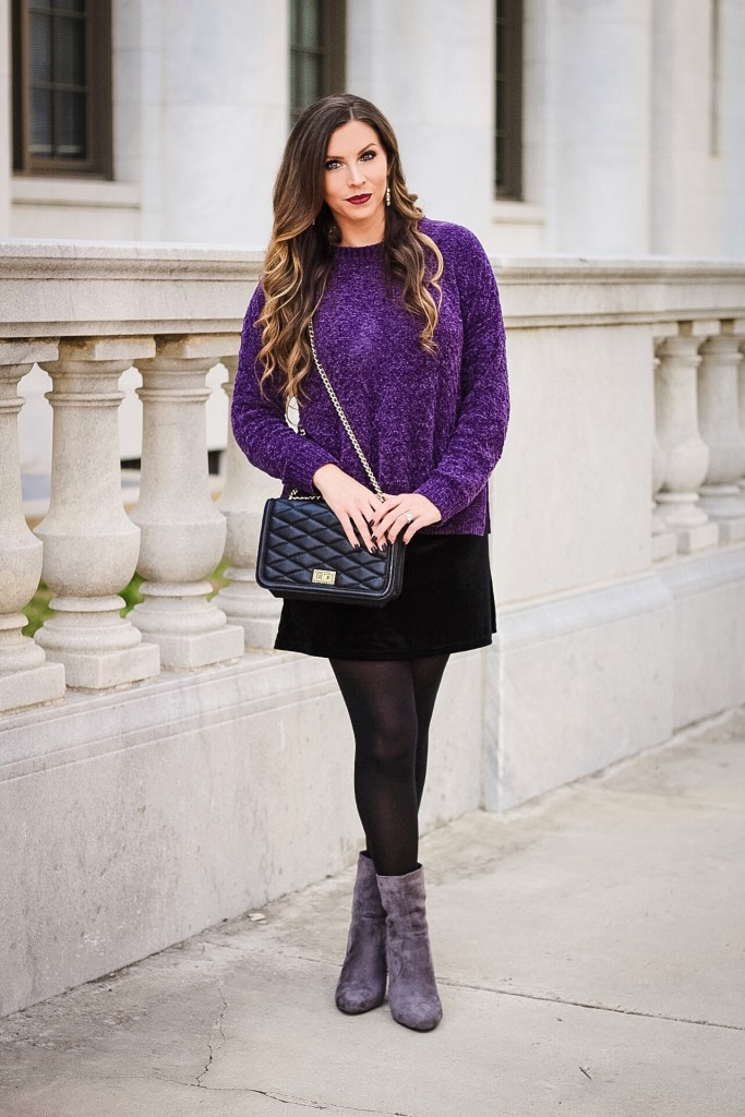 chenille-sweater-outfit-for-winter