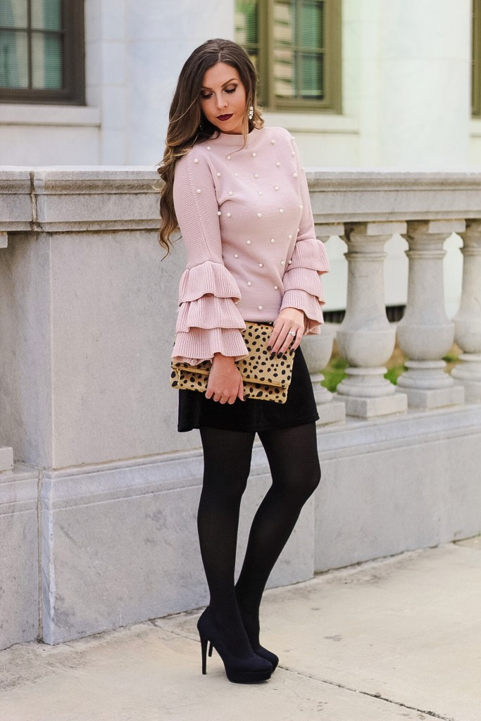 pearl-beaded-sweater-ruffle-sleeves