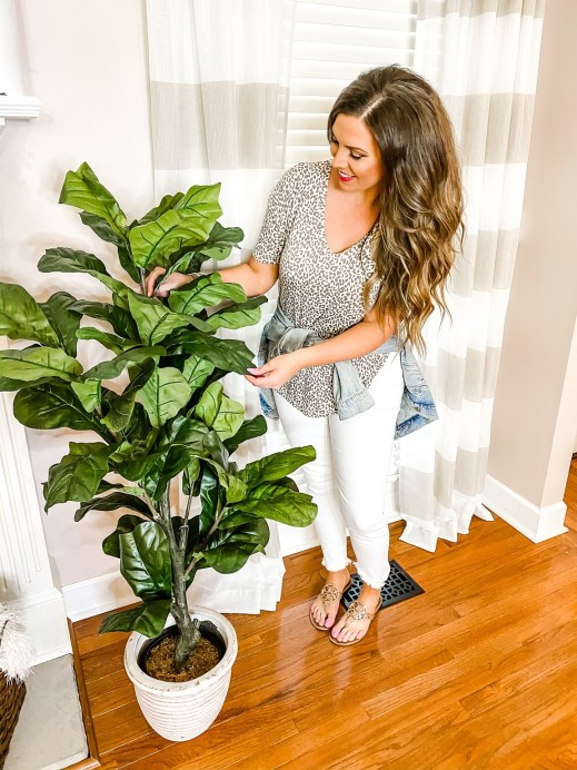 Savilla adding greenery to her home for Spring