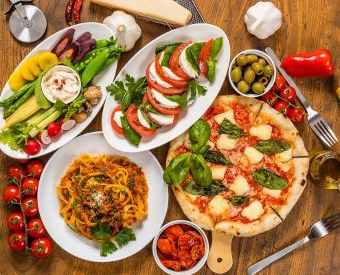 typisch italienische Speisen