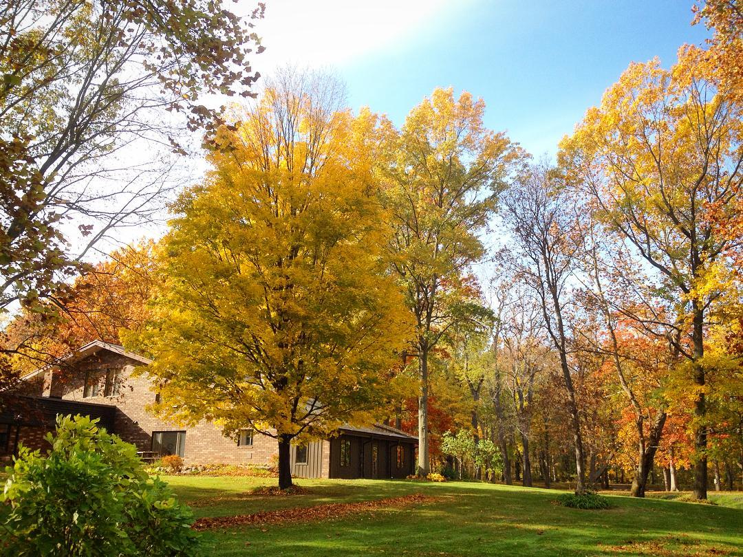 The Camp is so beautiful in the fall! Now, about all those leaves... Free raking lessons available. Inquire within. #voiceministries #voiceministriescamp