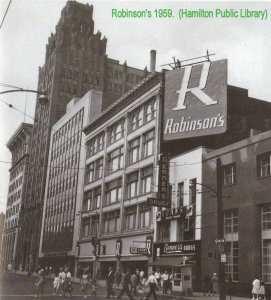 Robinson's department store in Burlington in 1959