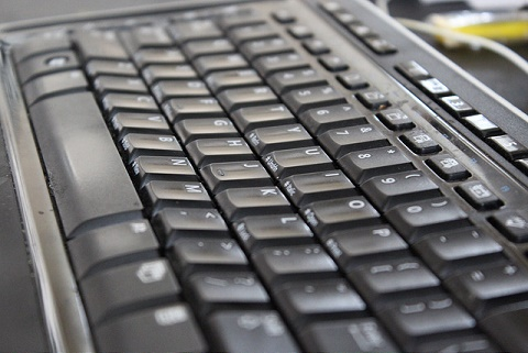 close-up of a computer keyboard
