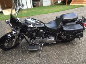 my last motorcycle - a beautiful Yamaha V-star 1100