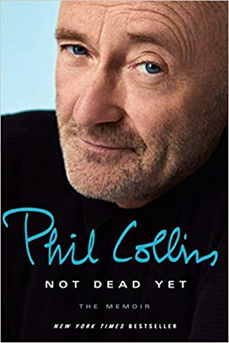 Book cover features a smiling Phil Collins