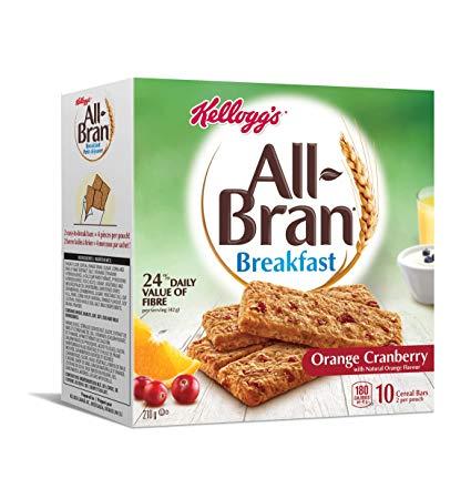 Box of Kellogg's All-Bran bars in orange-cranberry