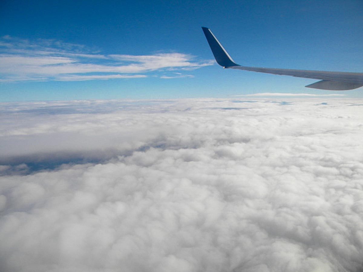 Above the clouds again