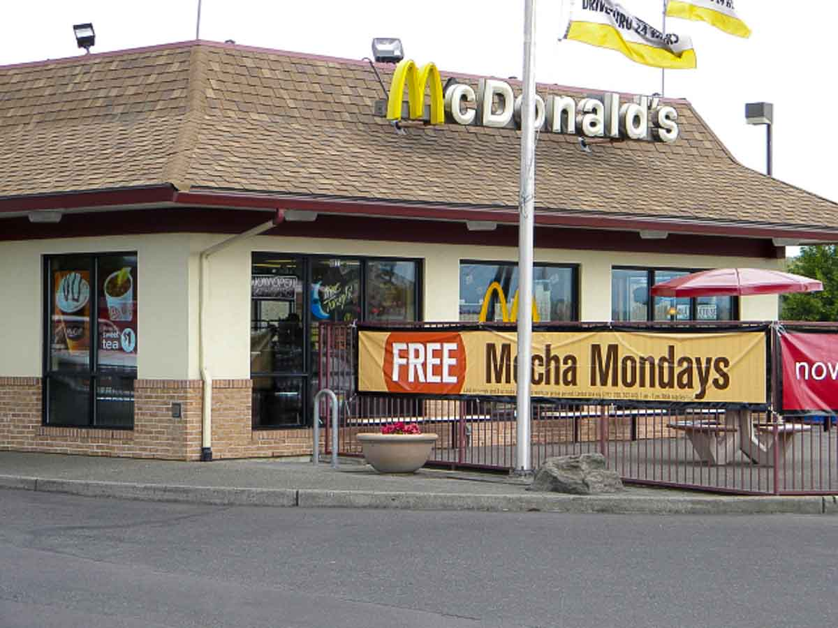 The Free Mocha Mondays sign was the deciding factor