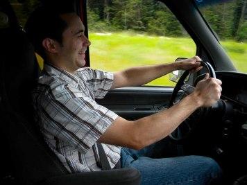 Josh enjoying his drive
