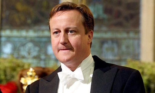 David Cameron white tie