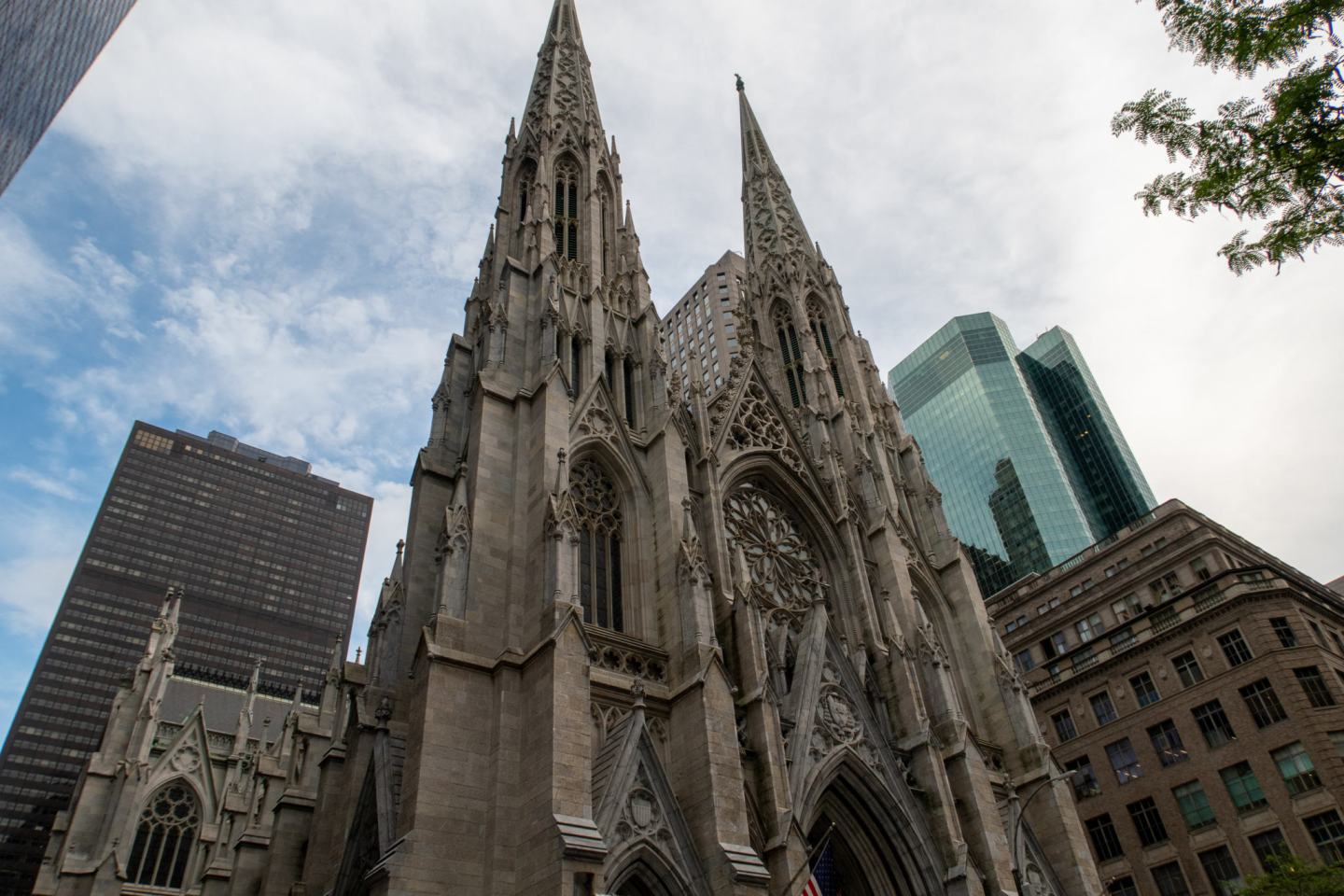 outside of st patricks cathedral in new york