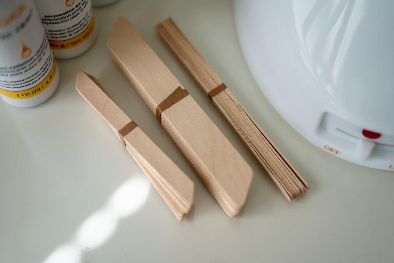 wooden sticks for Brazilian wax