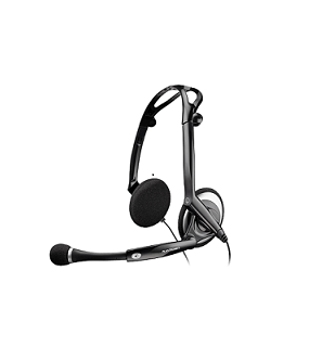 Plantronics foldable wire noise cancellation headset DSP 400